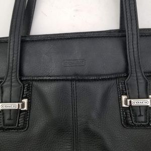 Coach Purse - Gorgeous Black Leather - great cond.